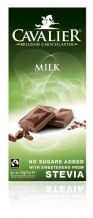 Stevia Milk Chocolate Bar 85g By Cavalier